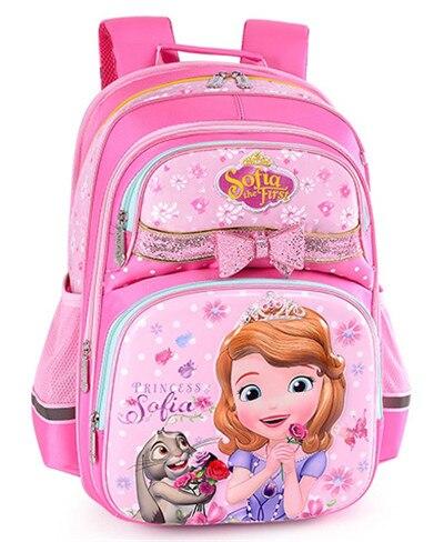 """16/"""" Kids Girls Sofia Princess School Shoulder Bag Children Backpack Rucksack New"""
