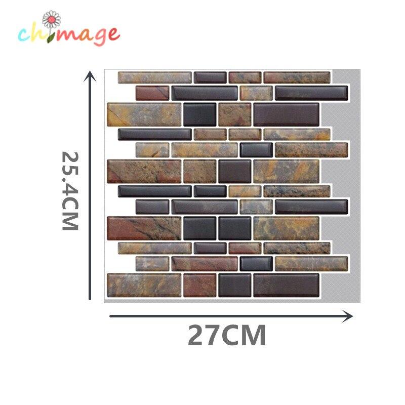 3D Self Adhesive Mosaic Tiles Wall Sticker DIY Kitchen Bathroom Backsplash Home Decor PVC wallpaper