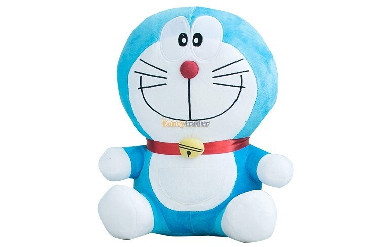 Fancytrader 26''65cm Doraemon Plush Toys Cute Japanese Anime Doraemon Cat Doll For Children's Gift 1 Piece Free Shipping fancytrader 39 100cm giant plush lovely rubber duck cute birthday present gift and decoration free shipping ft50007