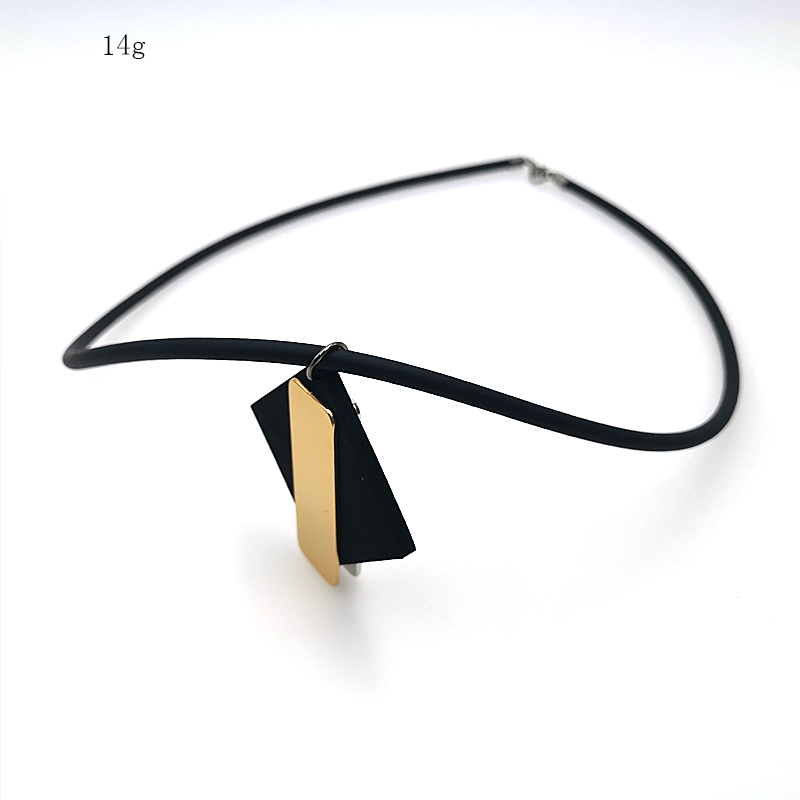 Купить с кэшбэком YD&YDBZ Fashion Rose Gold Pendant Womens Necklaces Jewelry  Handmade Black Rubber Rope Accessories Friendship Necklace Gift