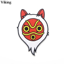 Princess Mononoke Cartoon Patch Iron On Embroidery Applique For Clothing Garment Diy Bag Accessories Cute Patches G0038