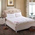 Перо матрас-кровать рождество постельные принадлежности 95% гусиный пух 10 см толщиной складной наматрасник перо наматрасник одеяло-обложка-дешевые
