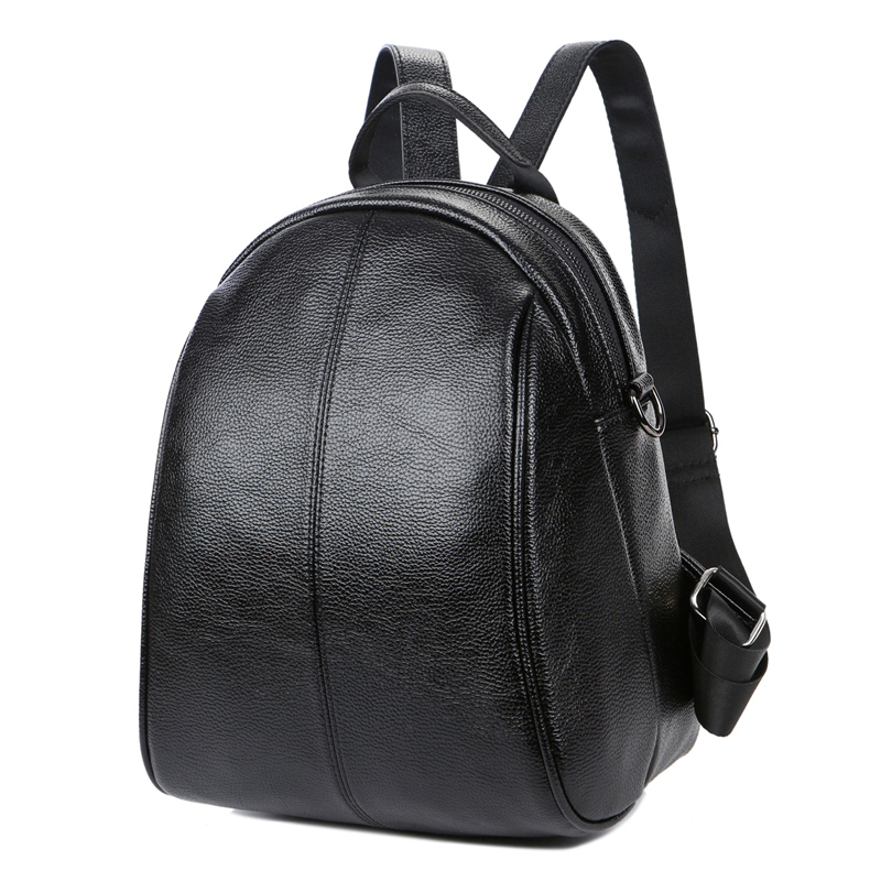 Brand Women Backpacks Leather Shoulder Bag Small Backpack Black Soft Solid School Bags For Teenage Girls Mochila Travel Rucksack