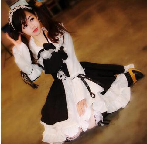 Hot Women Girl Lolita Cosplay Costume Classic Maid Anime Cosplay Dress