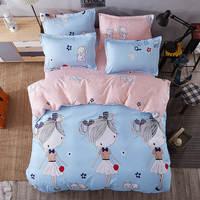 Новый для милых девочек в горошек постельные принадлежности Покрывала Утешитель Твин Полный Королева Король Размер детская Babys детская кро...