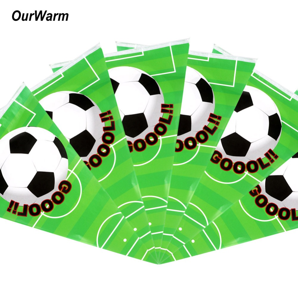 Ourwarm Football Banner Include 10pcs Flag For Happy Birthday