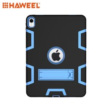 Haweel Tablet Case For iPad Pro 11 inch 2018 Contrast Color Silicone + PC Shockproof