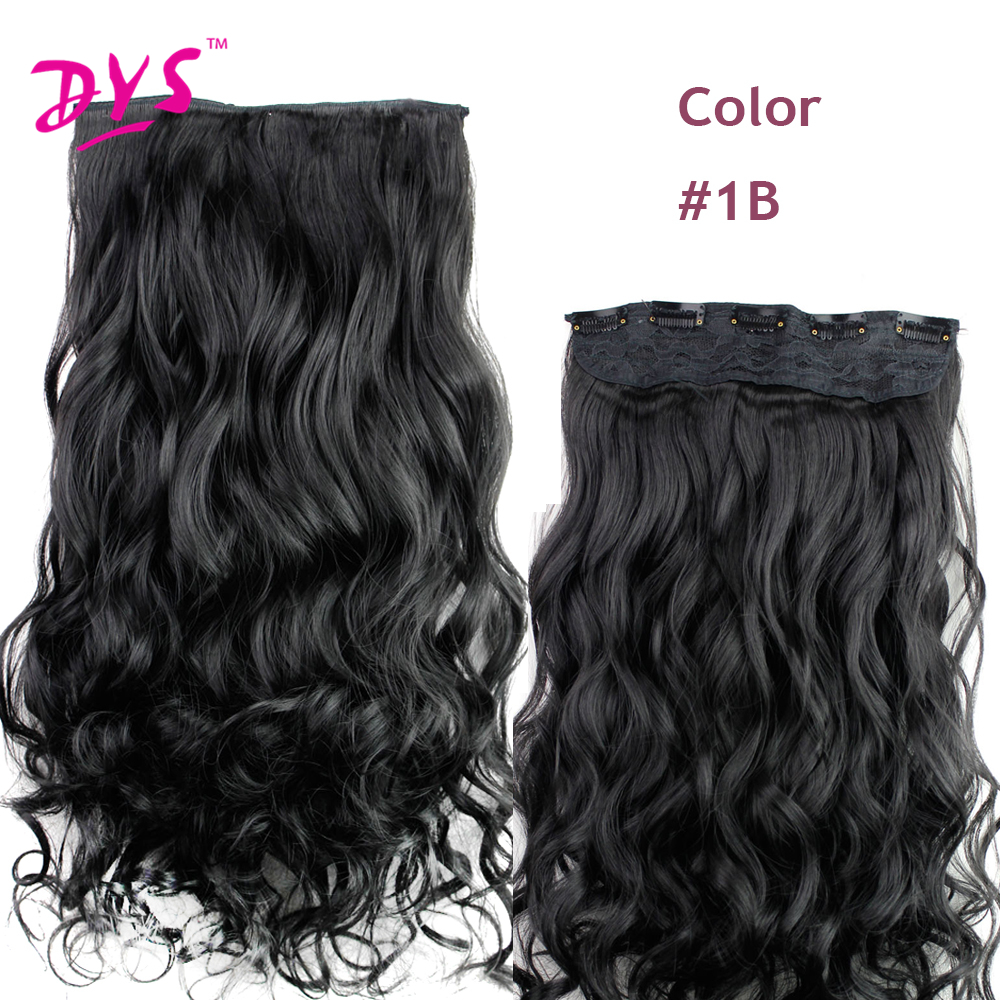 Deyngs 60CM One Piece 5 Clips in Hair Extensions For Women 34 Full Head Long Wavy16 Colors High Temperature Synthetic Fiber (2)