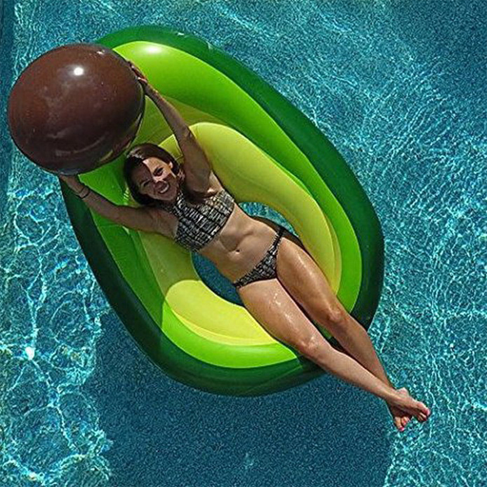 New avocado inflatable swimming pool floating large water inflatable mattress floating swimming ring