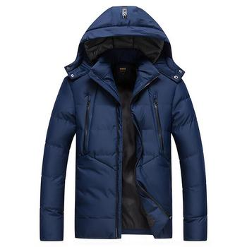 Fashion Thick Men's Winter Snow Coats 2019 New Waterproof -40 Degree Russia Cold Parkas Jacket 0607-011