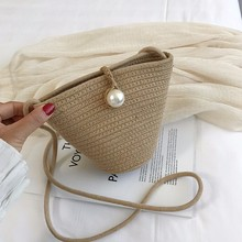 2019 Women Straw Messenger Bags For Girls Sac A Main Summer Beach Crossbody Bags For Women Shoulder Bag Straw Clutch Bag Bolsas straw cotton rope beach bag summer crossbody bags for women 2019 handmade brand shoulder messenger shopping bag women bag