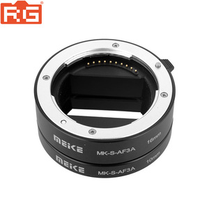 Image 2 - Meike MK S AF3A Metal Auto Focus Macro Extension Tube 10mm 16mm for Sony Mirrorless a6300 a6000 a7 a7SII NEX E Mount Camera