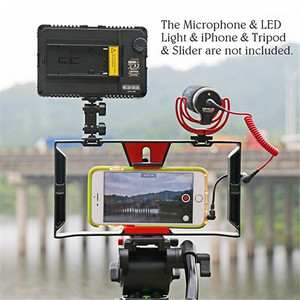 Image 5 - Smartphone Video Rig Smartphone Filmmaking Recording Vlogging Cell Phone Movies Mount Stabilizer for iPhone Xs XR X 8 7 Plus