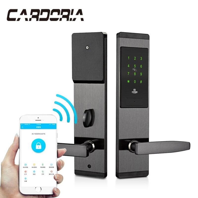 Sécurité électronique sans clé serrure de porte numérique Smart APP WIFI écran tactile clavier mot de passe serrure porte libre taxe au brésil