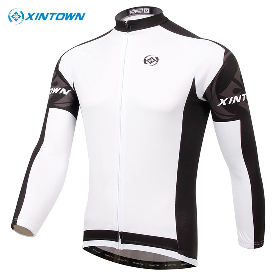 XINTOWN Men Cycling Jersey Bike Bicycle Long Sleeves Mountaion MTB Jersey Clothing Shirts Sport Riding Jerseys Bicycle Jacket
