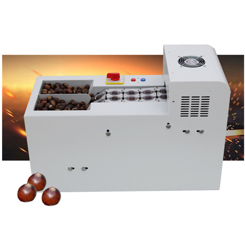 Professional electric chestnut shell opening machine hazelnut slitting machines double chain link nuts cutting cutter perth double dresser chestnut
