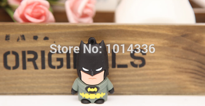 2/4/8/16/32GB cool Spiderman cartoon USB Flash Drive Stick Card Pen Thumb/Car/Pen creative Gift 2.0 creative Pendrive#21