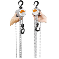 KACC Mini Hand Chain Hoist Hook Mount 0.25/0.5 Ton Capacity 3 Meters Lift CE Certificate Portable Manual Lever Block Lifting