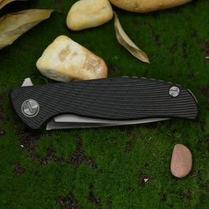 Image 5 - Verde spina Hati Custom M390 F95 pieghevole in fibra di carbonio coltello 3D titanium maniglia di campeggio coltello da frutta allaperto edc STRUMENTO di sopravvivenza