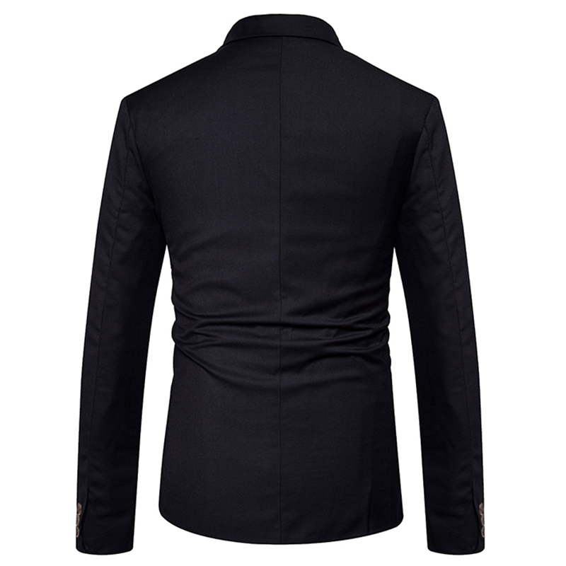 Image 5 - New 2019 Slim Casual Suit jacket Men's double breasted autumn winter fashion Party solid color fit suit coat men EU/US size-in Blazers from Men's Clothing