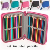 kemila Waterproof pen bag 72 Holders Colored Pencil Bags Large Capacity Portable Watercolor Wrap Pencil Case marker Art Students