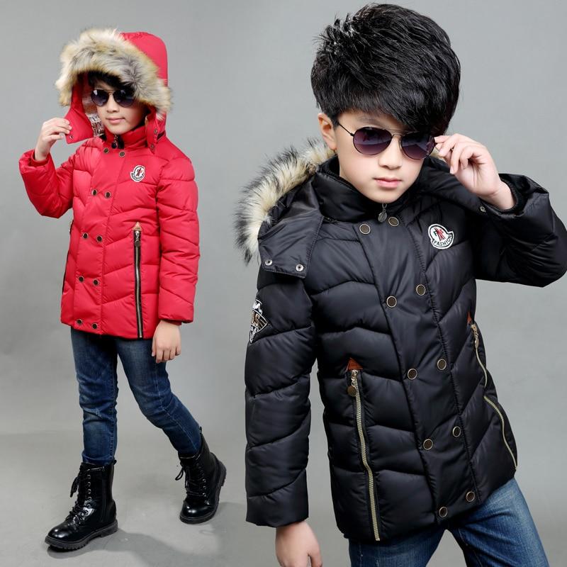 Boys Boys down Ceketler Parka için childen kış ceketler Mont sıcak Çocuklar bebek kalın pamuk aşağı ceket soğuk kış