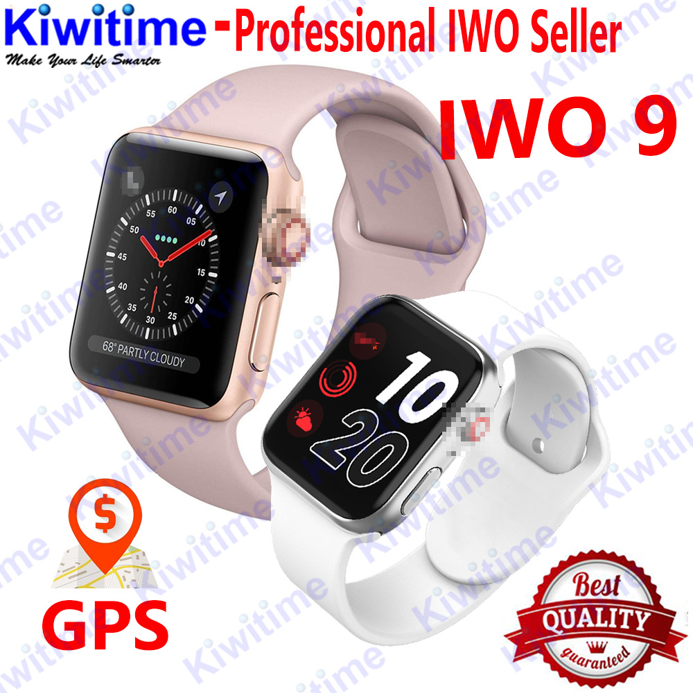 KIWITIME IWO 9 Smart Watch 44mm Series 4 Heart Rate Pedometer Motion track Smart Watch for