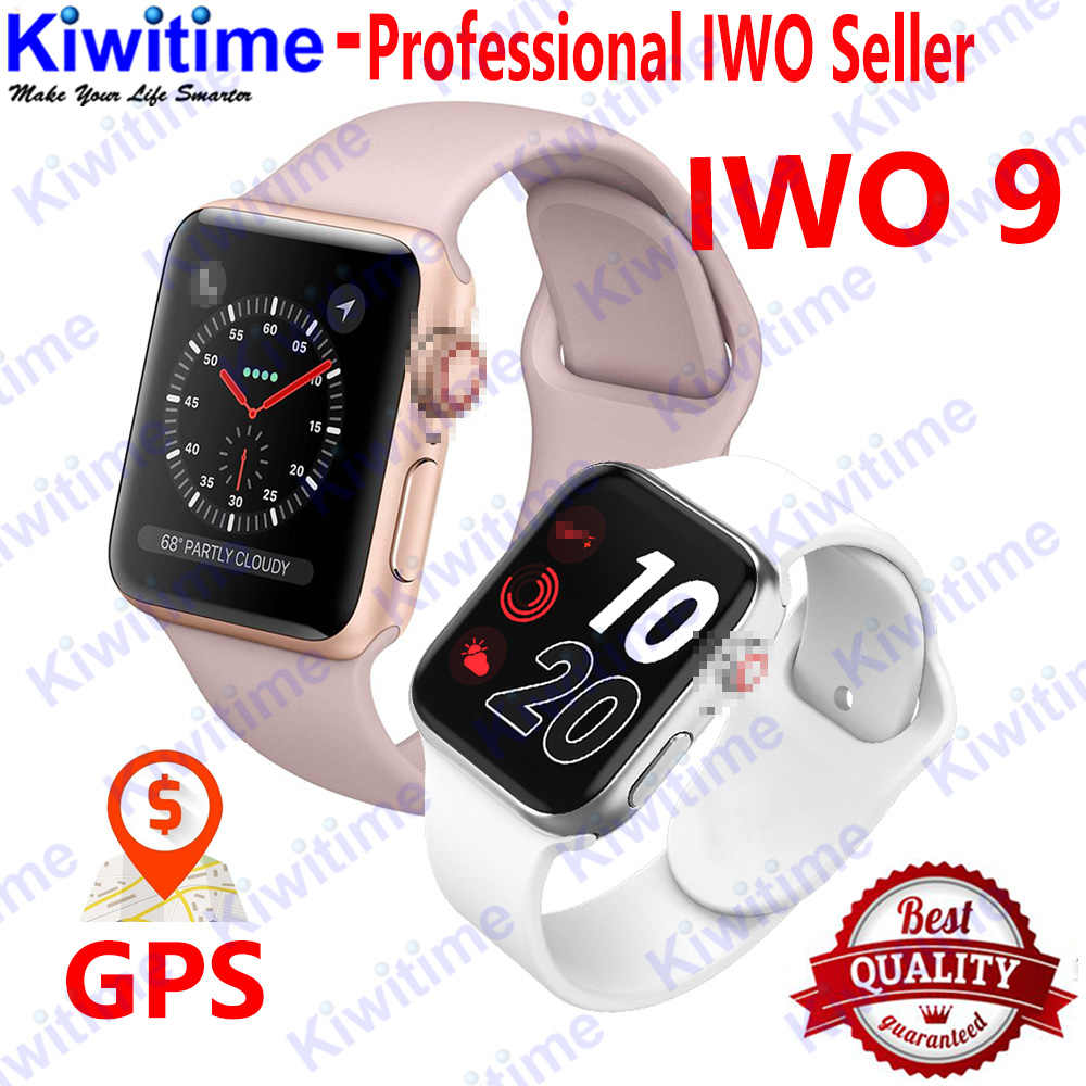 KIWITIME IWO 9 Smart Watch 44mm Series 4 Heart Rate Pedometer Motion track Smart Watch for iPhone Android phone not IWO 7 8