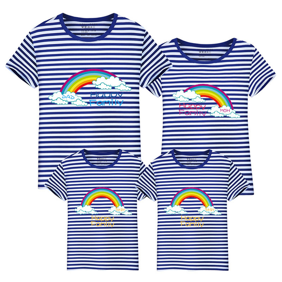 Value Baby Store 1pc Family Matching Clothes Father Son Mother Daughter T-shirts Outfits Summer Short Fashion Cartoon T-Shirts Clothes VB6-D