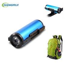 Hangrui Bluetooth Динамик Открытый велосипедов Портативный сабвуфер бас Динамик S 7800 мАч Мощность банк + светодиодные + крепление + карабин