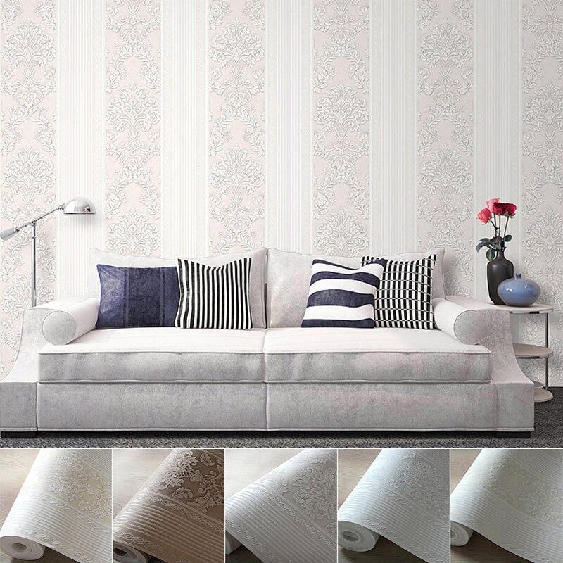 Luxury Fashion Gold Powder Universal Stripe Wallpaper 3d Modern Living Room Waterproof Non Woven Fabric Wall Paper Rolls