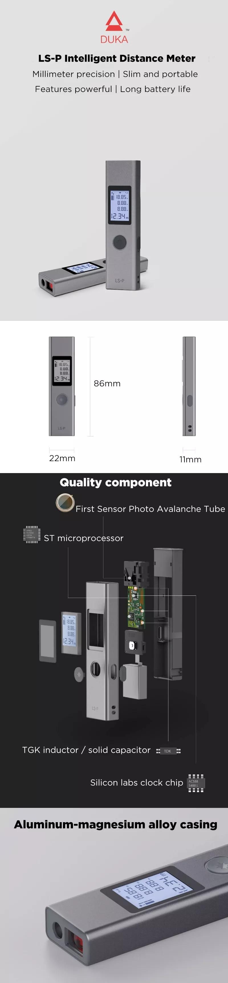 Duka LS-P Laser Range Finder Gloable