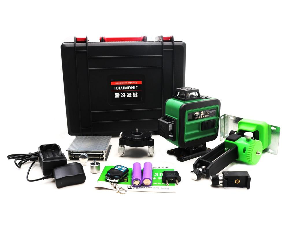 2019 nouveau 16 lignes 4D auto-nivelant 360 Laser rotatif Horizontal et Vertical Super puissant laser de nivellement de faisceau vert
