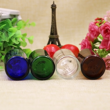 10/20 штук 50 мл пустые зеленый/синий/прозрачный/коричневая стеклянная бутылка для жидкостей с уменьшенным горлышком и защитная крышка малень...