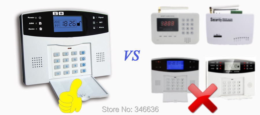 Free Shipping!IOS Android APP Control Wireless Home Security GSM Alarm System Intercom Remote Control Autodial Siren Sensor Kit 10