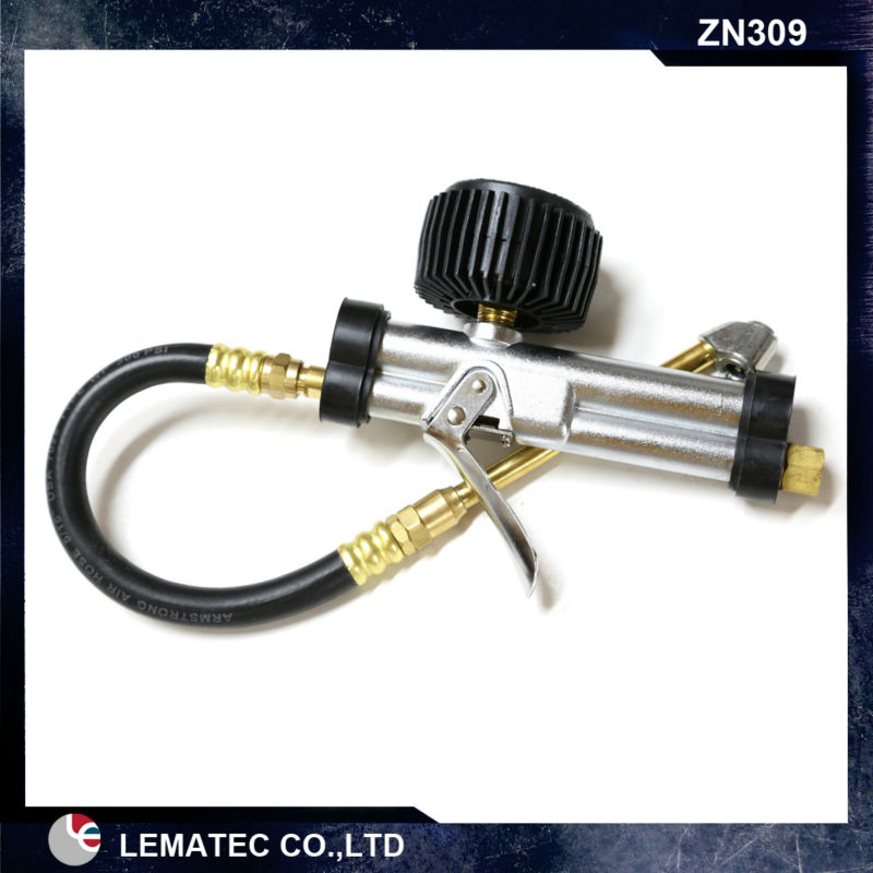 LEMATEC Heavy Dial Tire Inflator with gauge for tire inflating gun air tyre tools lematec heavy duty car dual head tire inflator pressure gauge air chuck profession tyre air inflator gun air tools