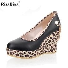 Бесплатная доставка клин туфли на платформе женщин сексуальное модной обуви насосы P13079 EUR размер 34-43