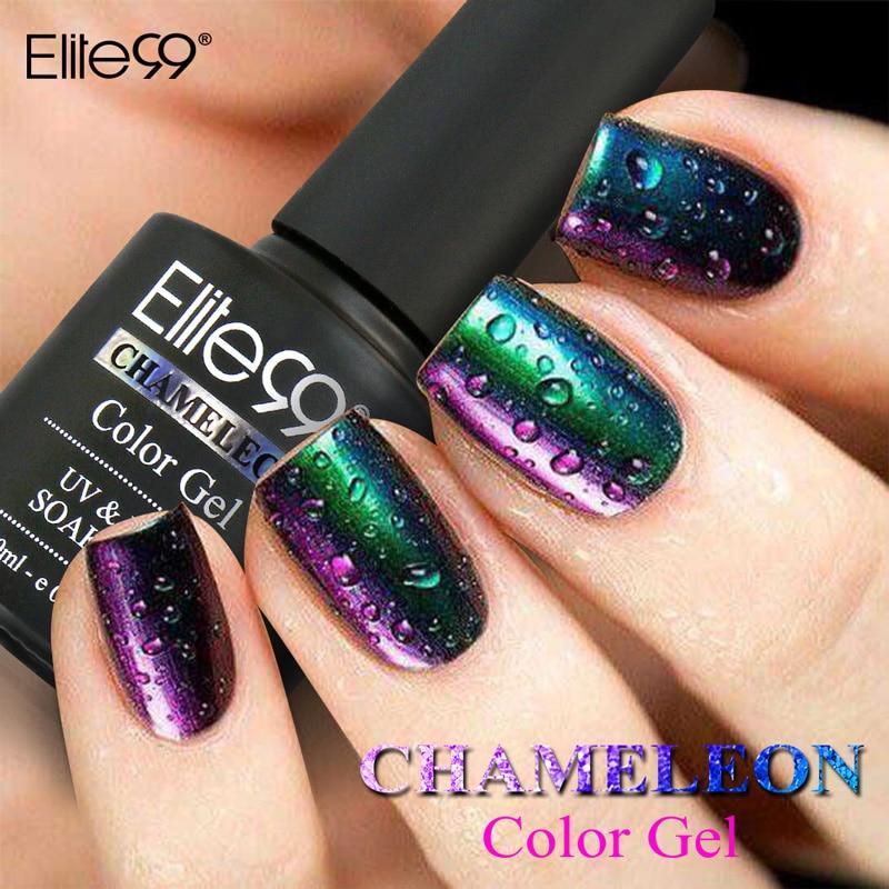 Gel Nail Polishes: Elite99 10ml 3D Colorful Phantom Nail Gel Polish Chameleon