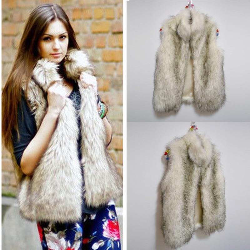 Frauen Sleeveless faux Fur fluffy mantel Casual Chaquetas Nerz Mantel Oberbekleidung Gefälschte Pelz Damen Neue Strickjacke party mantel Plus Größe