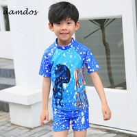 Bikini 2019 Children Two Piec Swimsuit Bathing Suit Biqui Swimwear Kid's Boys Summer Dress Children Beach Dress Shorts Cover up