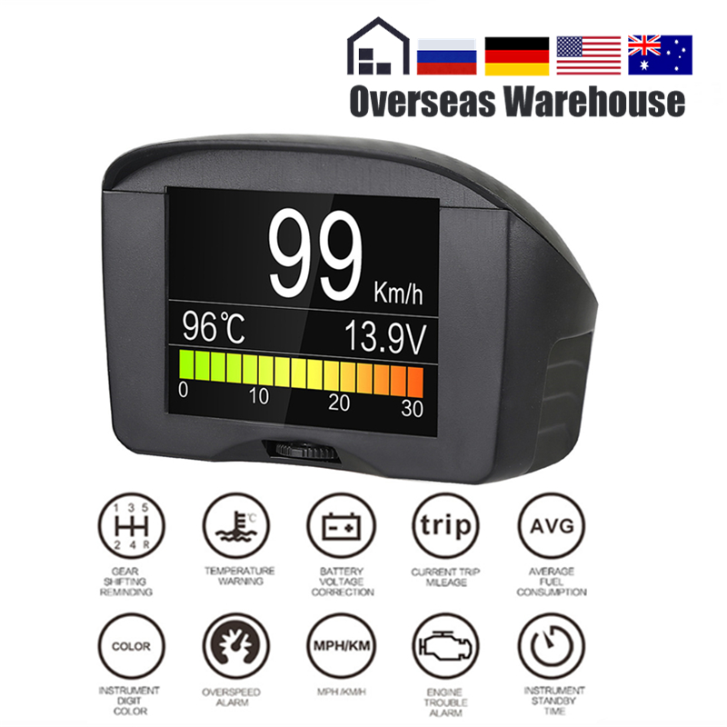 AUTOOL X50 Plus OBD2 Display Speedmeter Auto On-board Computer Car OBD Smart Digital Voltage Speed Meter Temperature Gauge Alarm