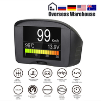 AUTOOL X50 Plus OBD2 Display Speedmeter Auto On board Computer Car OBD Smart Digital Voltage Speed Meter Temperature Gauge Alarm
