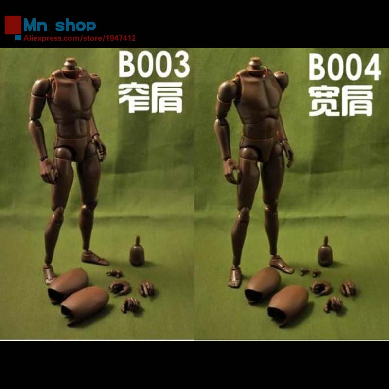 ФОТО COOMODEL 1/6 Nude Action Figure Standard Muscle Man Narrow Shoulders Black Color B003/B004