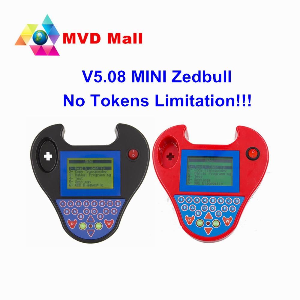 Prix pour 2017 Nouvellement Arrivée V5.08 Mini Zedbull Non Jetons Limitation Mini zed-bull Auto Key Programmeur Soutien Multi-marques Vente chaude