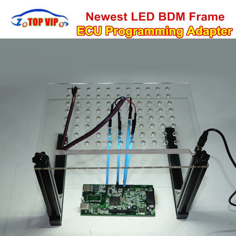 LED BDM Frame Acrylic ECU Programmer Full Set BDM Frame With 4Pcs Probe Pens For KTAG KESS V2 Fgtech BDM100 Car ECU Tool LED BDM