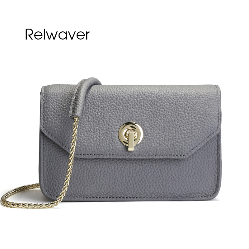 Relwaver cowhide split leather women messenger bags chain bag flap fashion mini stylish crossbody women's shoulder bag women bag nucelle women split leather messenger bags ladies fashion chain mini cross body bags female flap shoulder bags for phone nz5902
