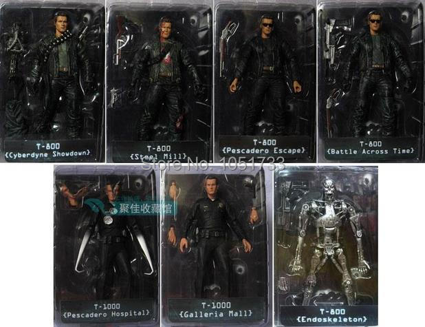 NECA The Terminator 2 Action Figure T-800 ENDOSKELETON Classic Figure Toy 718cm 7Styles free shipping neca the terminator 2 action figure t 1000 galleria mall figure toy 718cm mvfg037