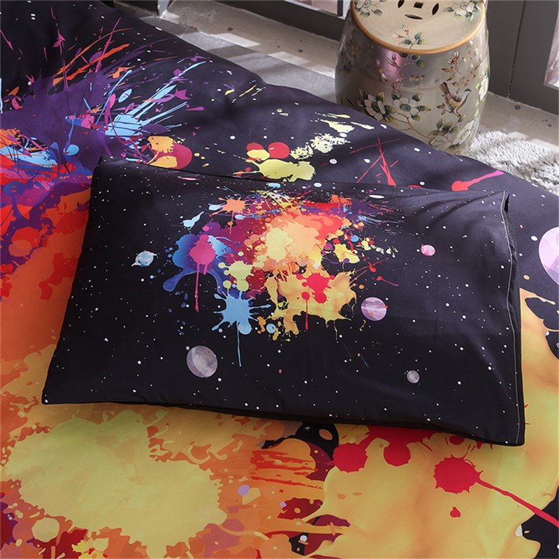 Image 3 - LOVINSUNSHINE Universe Outer Space colorful Galaxy Bedding Set New Design 2pcs/3pcs Duvet Cover with Pillowcase King Queen Size-in Duvet Cover from Home & Garden