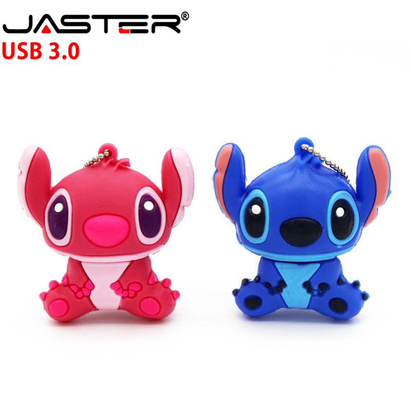 JASTER 3.0 Creative Cartoon Stitch USB Flash Drive Genuine Pendrive 4GB 8GB 16GB 32GB 64GB  Memory Stick Pen Drive U Disk