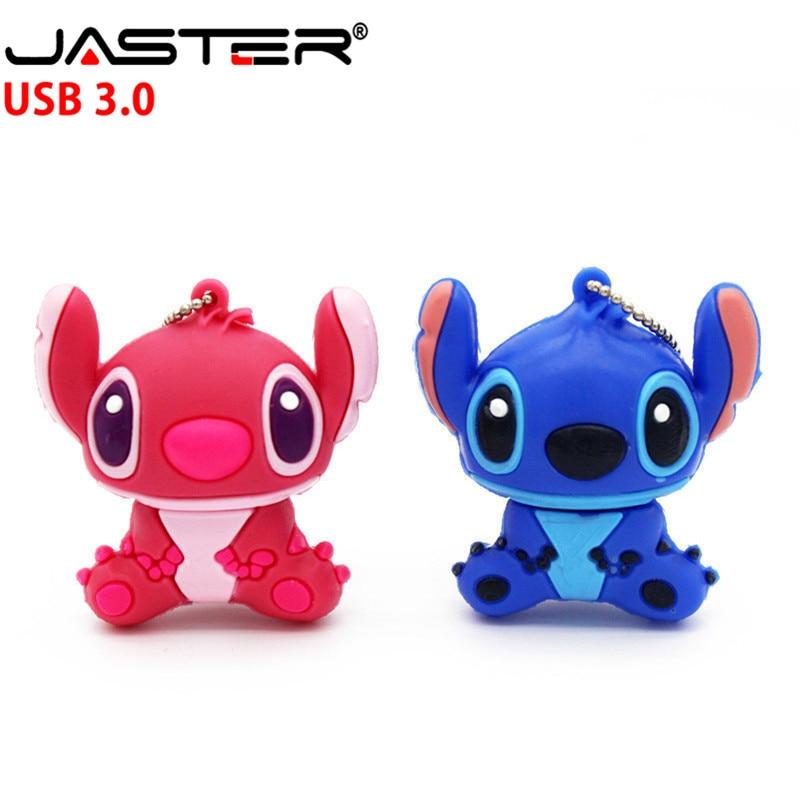 JASTER 3.0 Creative Cartoon Stitch USB Flash Drive Genuine Pendrive 4GB 8GB 16GB 32GB 64GB  Memory Stick Pen Drive U Disk